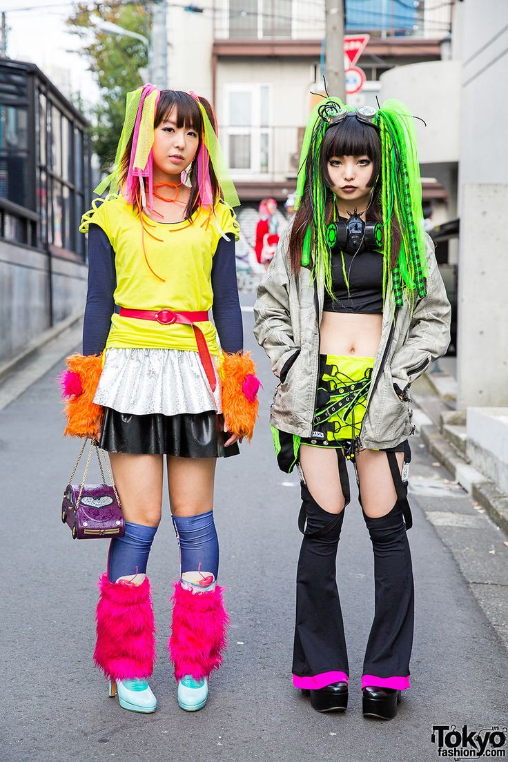 Harajuku Cyber Style W Pen Lolly Cyberdog Gas Mask Hair Falls Japan