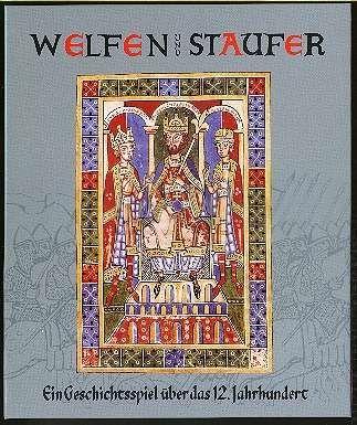Spieleschachtel (Motiv: Kaiser Friedrich I mit seinen Söhnen, Weingartener Bilderhandschrift 1185/91)
