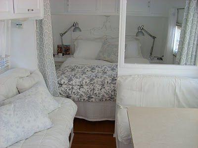 vintage caravan inside