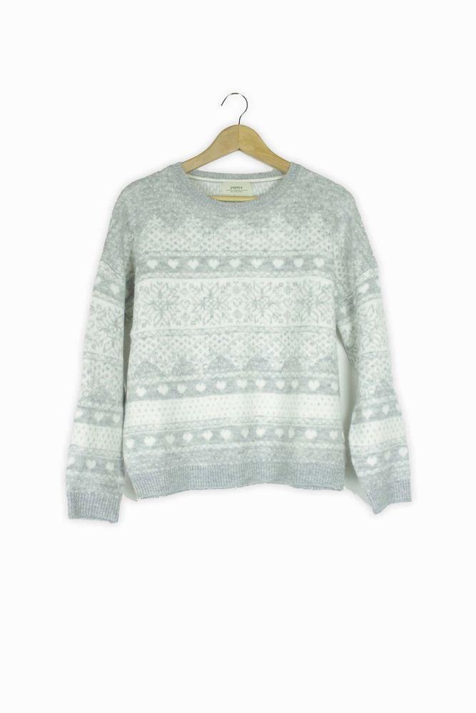 706d8b610 Papaya grey & white winter soft jumper Size M #fashion #clothing ...
