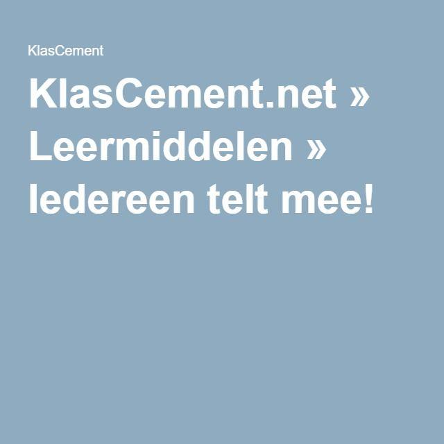 KlasCement.net » Leermiddelen » Iedereen telt mee!