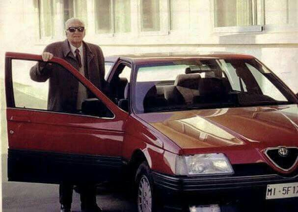 Enzo Ferrari in an....