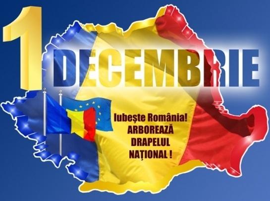 1 decembrie. Iubeste România! Arborează drapelul național!