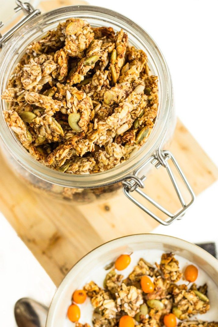 banana granola (with no added sweetener!)