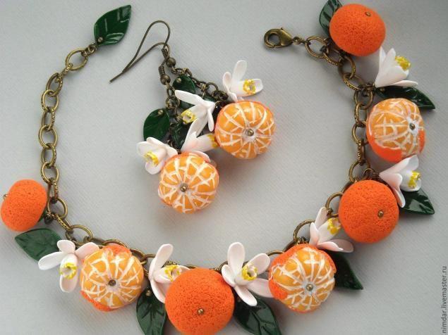 """MK - """"mandarines"""" de la arcilla del polímero - Masters Feria - hecho a mano, hecho a mano"""
