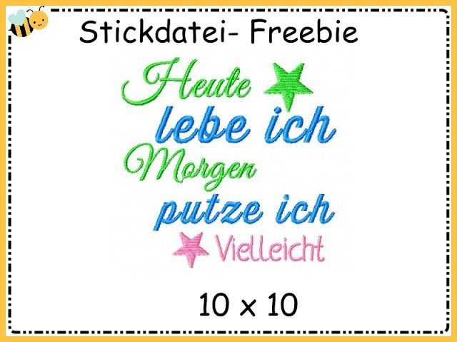 Stickdatei Freebie
