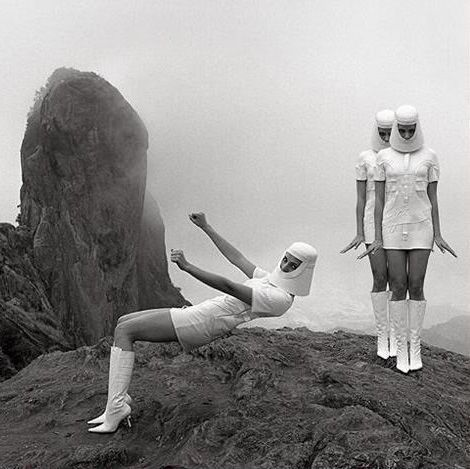 60's space age fashion by Pierre Cardin.