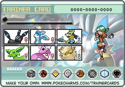 My Imaginary Pokemon Trainer card. lol, all shiny.... yep