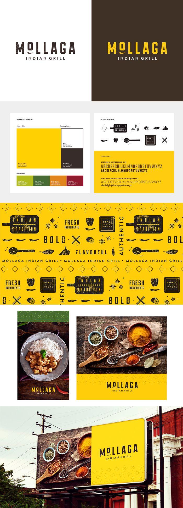 Restaurant designs restaurant logo creator restaurant logo maker - Identity Mollaga Food Restaurant Brand Identity Designbranding Designlogo