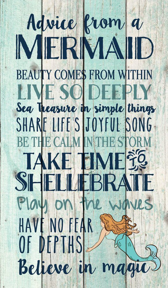 Advice from a Mermaid Pallet Wall Decor