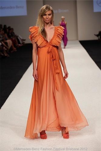 FLORENCE Burnt Orange Ombre Dress @byLisaBrown