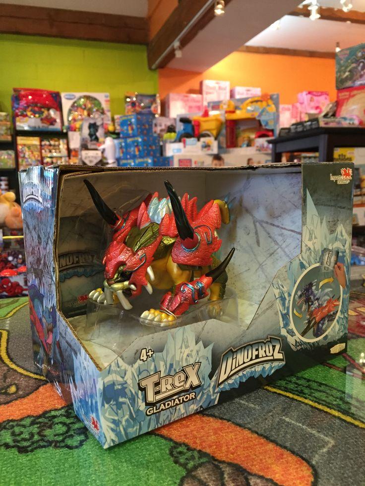 DinoFroz Nouveautés, T-Rex 15 cm Dinosaures Gladiateur, 4+ans. 29.99$. Disponible dans la boutique St-Sauveur (Détaillant des Laurentides) Boîte à Surprises, ou en ligne sur www.laboiteasurprises.ca ... sur notre catalogue de jouets en ligne, Livraison possible dans tout le Québec($) 450-240-0007 info@laboiteasurprisesdenicolas.ca