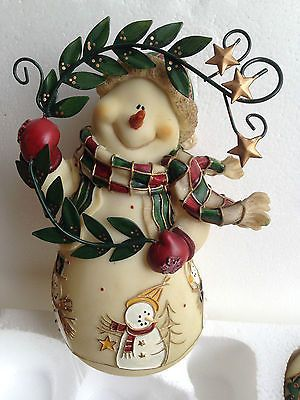 Home Interior Retired Christmas Set Of 3 Snowman Figurines