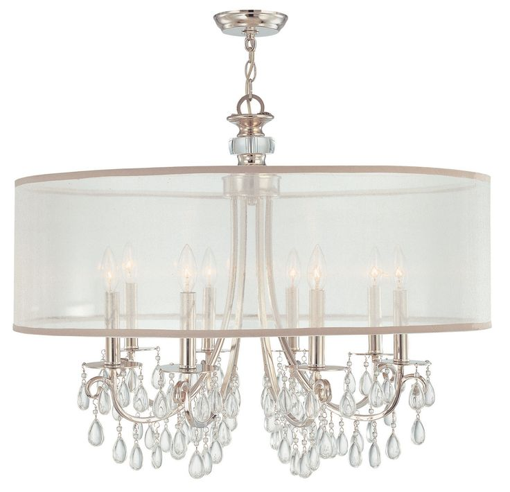 fabulous kitchen lighting chandelier glass. Hampton Polished Chrome Crystal Chandelier With Silver Drum Shade Fabulous Kitchen Lighting Glass N