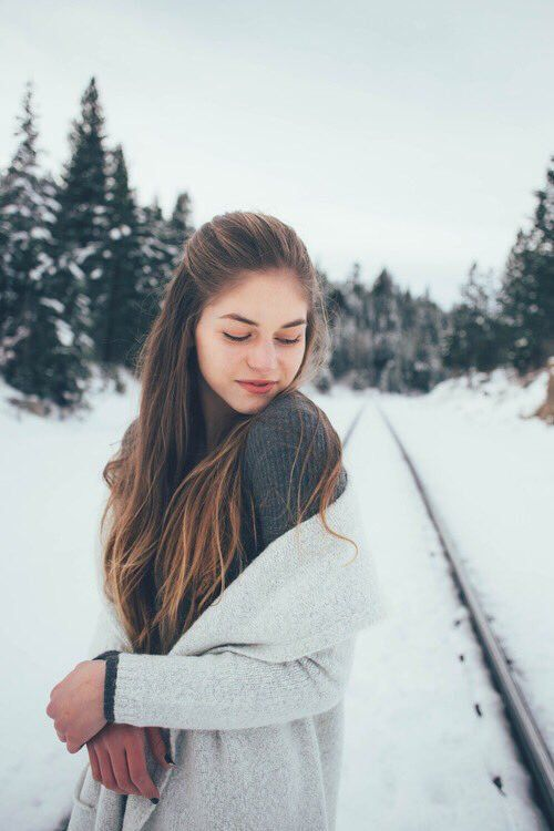 beautiful girl, winter