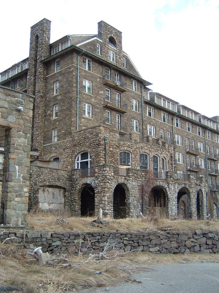 The Buck Hill Inn. Once one of the Poconos premiere resorts, it has been abandoned for many decades.