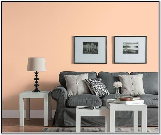 Living Room Decor With Peach Walls In 2020 Peach Living Rooms Living Room Wall Color Living Room Grey #peach #living #room #walls