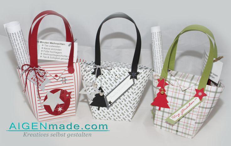 15 Minuten Weihnachten Geschenkstaschen gefüllt #Stampin'UP!