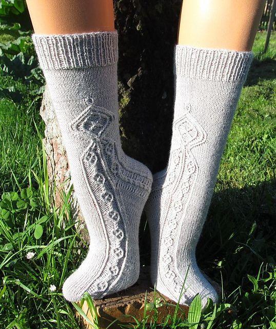 Ravelry: Pendragon Socks pattern by Erica Lueder. $4.99