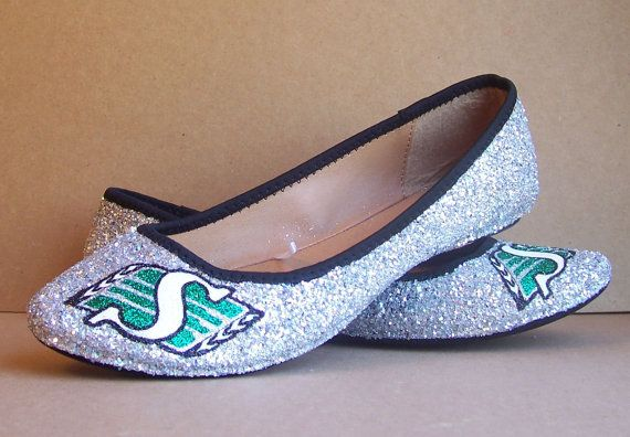 Saskatchewan Roughrider Flats by TattooedMary on Etsy, $65.00