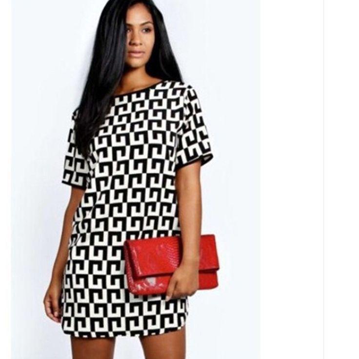 Loose Fit Mini Dress