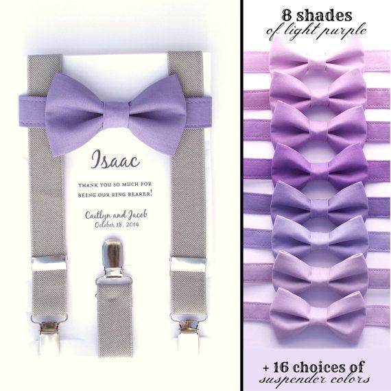 Lavande papillon et bretelles « heather » (gris moyen). Le noeud de cravate montré dans limage principale est PR13, mais si vous souhaitez une