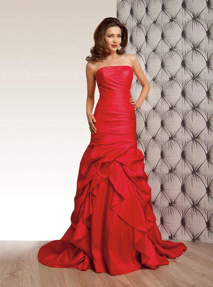 29 best images about Red Wedding Dresses on Pinterest | Taffeta ...
