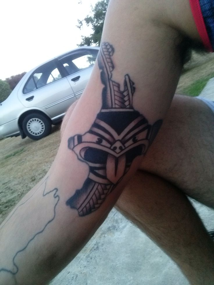 Danny Wickham's New Zealand/Vodafone Warriors inspired tattoo #Tattoo #Warriors #WarriorsForever #logo