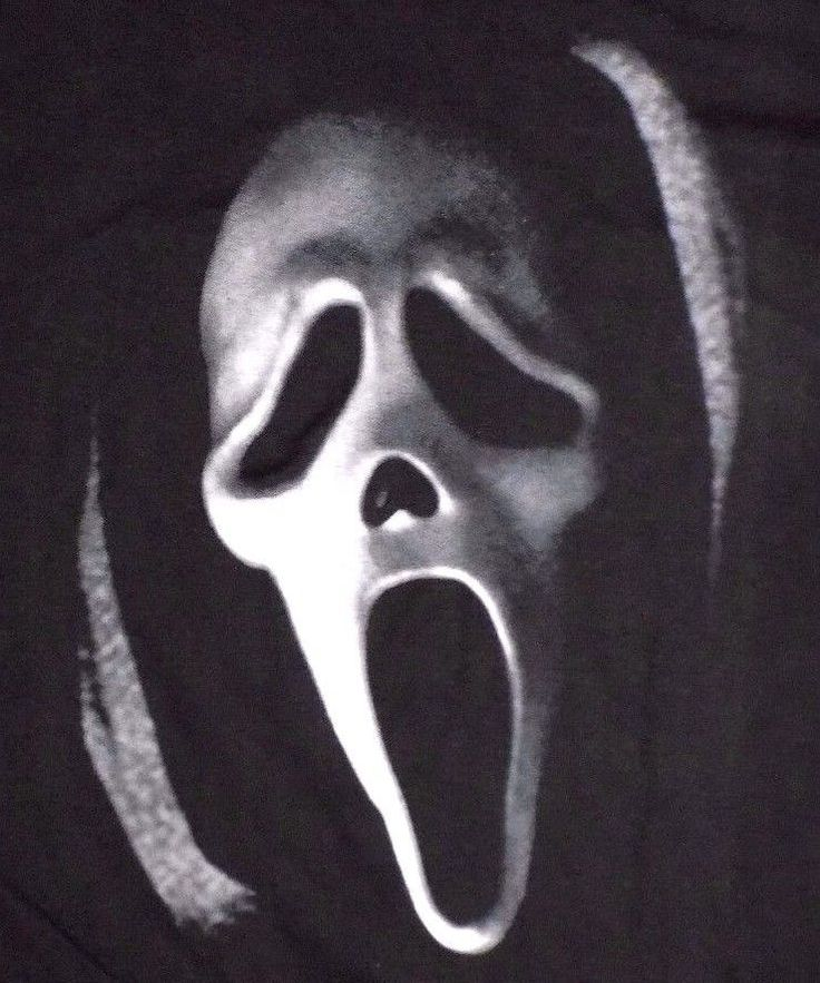 Scream Ghostface Killer Large Black T Shirt NWT Horror Movie Maniacs  #Scream #GraphicTee