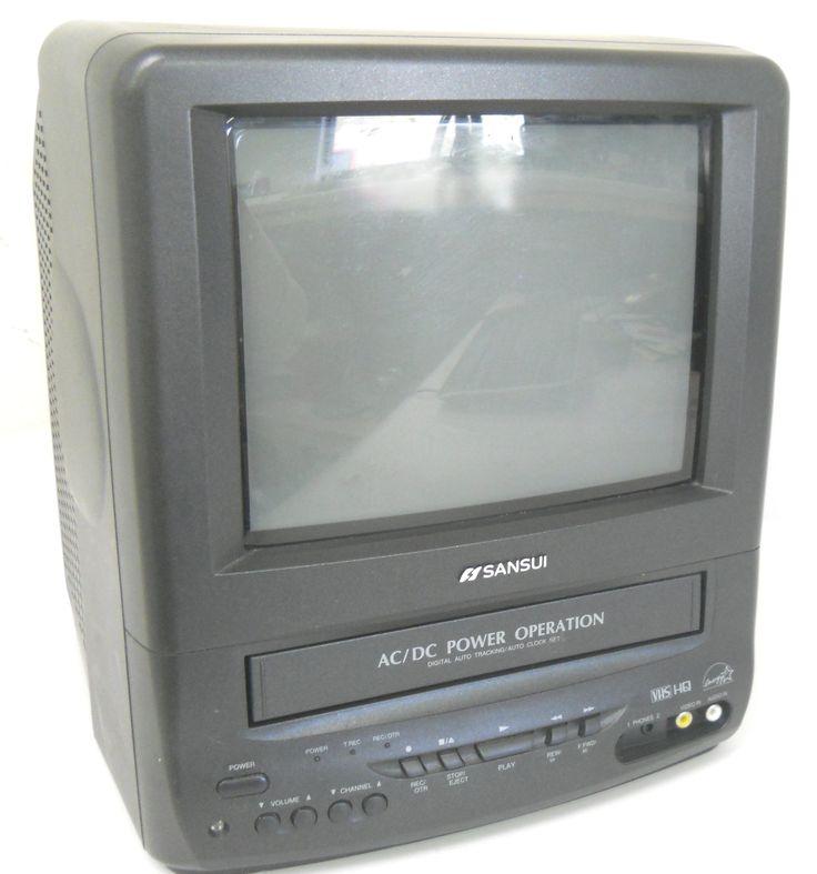 """Sansui COM0961B 9"""" Color TV / VCR Combo"""