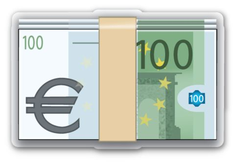 Banknote with Euro Sign | EmojiStickers.com