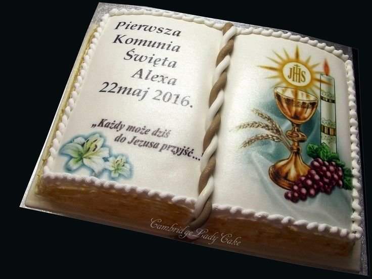 Holy book cake
