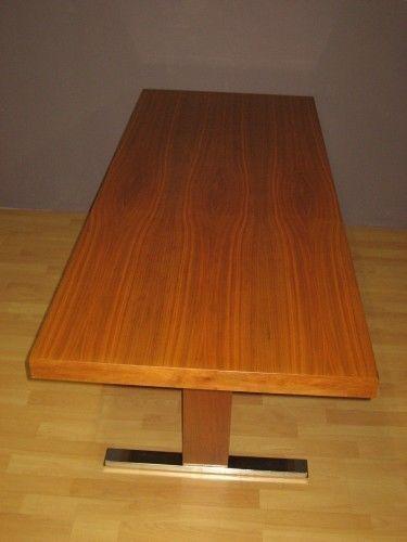 60s-70s table -nuss tisch-höhenverstellbar-W1221