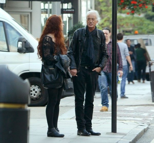 Another shot of Jimmy Page with girlfriend poet Scarlett