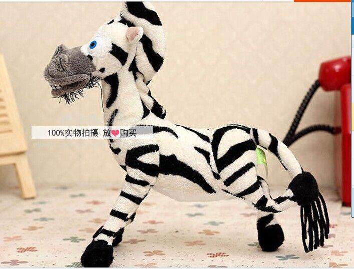 30 см прекрасный зебра плюшевые игрушки мультфильм мадагаскар зебра кукла, Рождественский подарок b4592