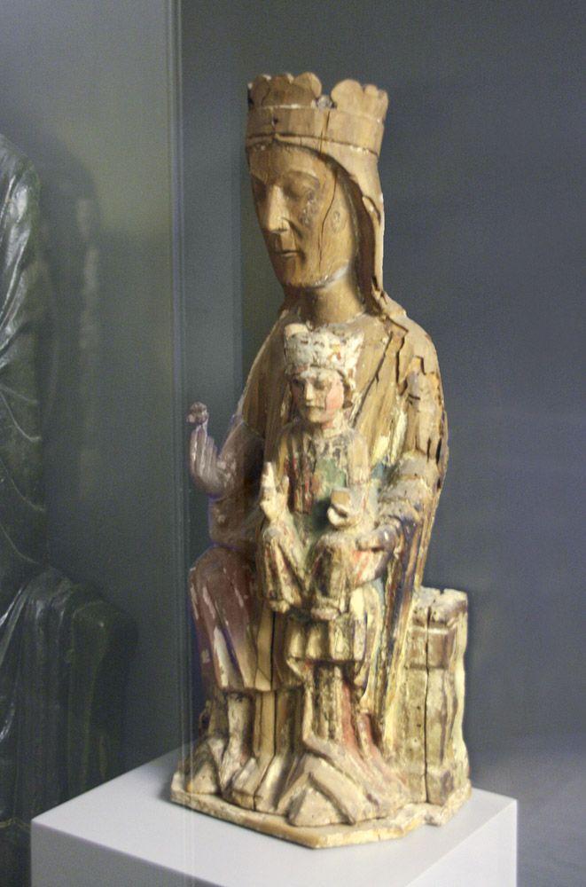 Vigen románica. Virgen de San Miguel de Escalada, siglo XIII. Museo de León.