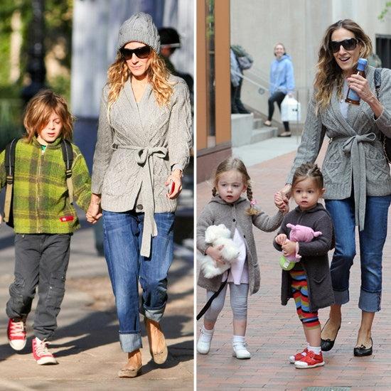 SJP being mum to her 3 beautiful children.