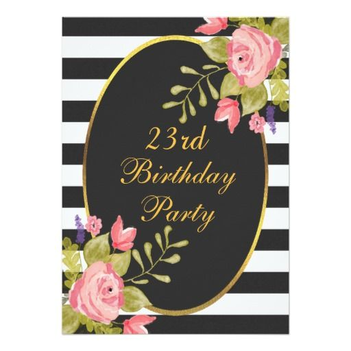 431 best 23rd Birthday Party Invitations images – 23 Birthday Cards