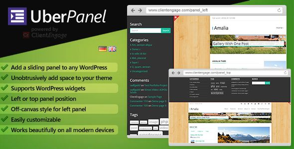Review UberPanel - Sliding Panel Plugin for WordPresslowest price for you. In addition you can compare price with another store and read helpful reviews. Buy
