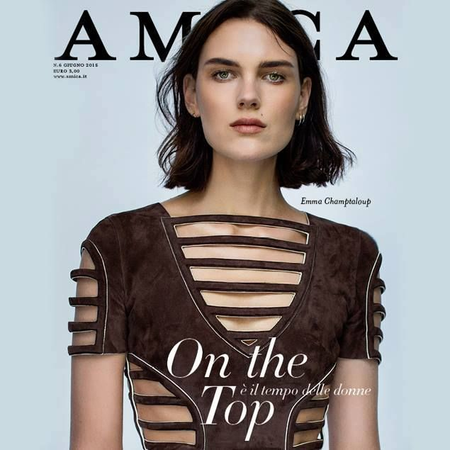 The cover of Amica magazine featuring a Fendi SS15 dress