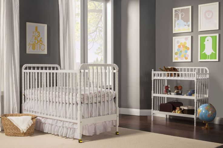 28 neutral baby nursery ideas themes designs pictures wood crib dark hardwood flooring - Vintage antique baby room ideas timeless charm appeal ...