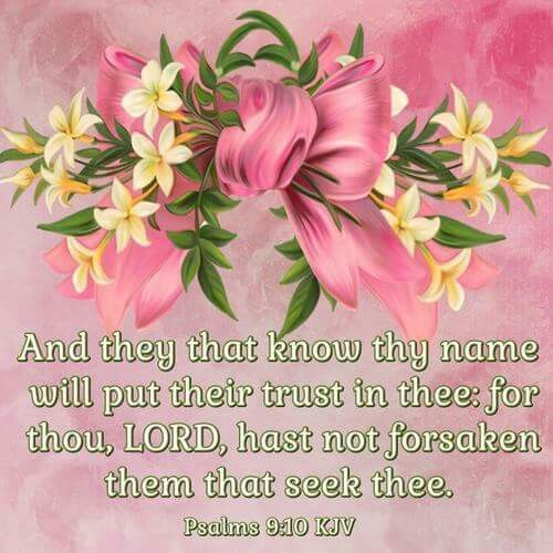 Psalm 9:10 KJV