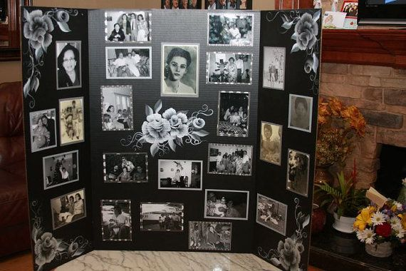 Funeral Picture Boards or other Occasions by villoriahua on Etsy