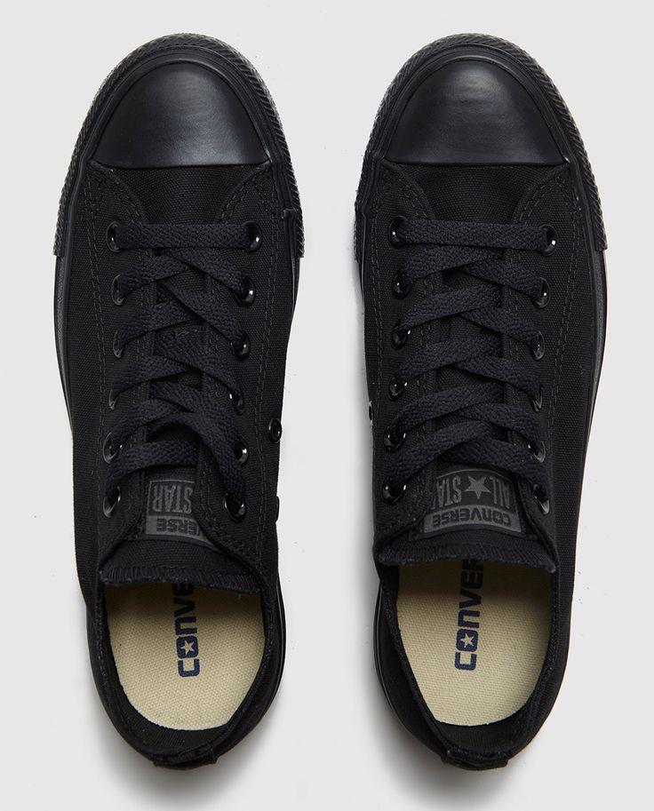 Zapatillas de lona de mujer Converse negras                                                                                                                                                                                 Más