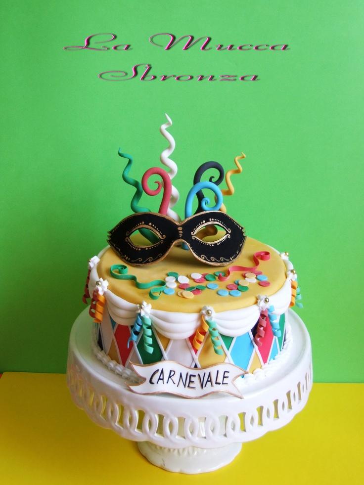 http://lamuccasbronza.blogspot.com  Mask Cake  carnevale: Cakedesign Carnev, Carnev Cakes, Amazing Cakes, Cookies Cakes, Simple Cakedesign, Cakes Design, Cutest Cakes, Cakes Carnev, Carnavals Cakes
