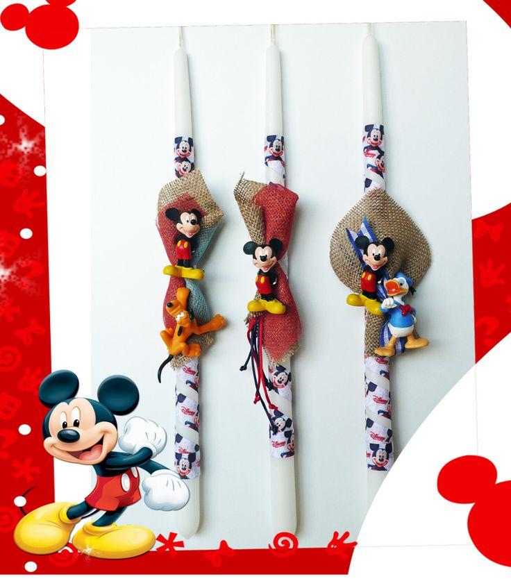 Λαμπάδες Mickey mouse