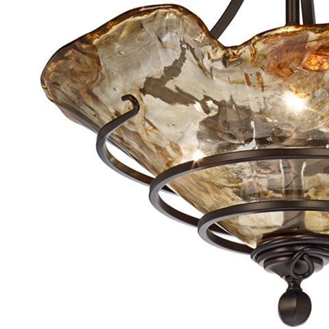 "Uttermost Vitalia 22 1/4"" Wide 3-Light Pendant Chandelier - #N0309   Lamps Plus"