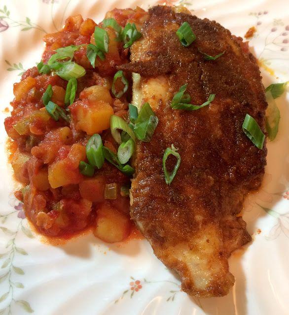 Blackened Catfish with Veracruz Sauce