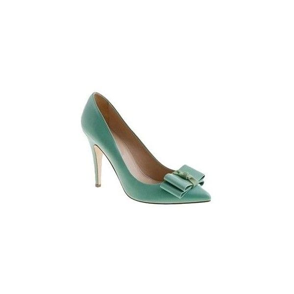 shoes ❤ liked on Polyvore featuring shoes, pumps, mint shoes, bow pumps, mint green pumps, bow shoes and mint pumps