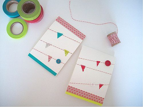 sweet bunting cards via the drifter and the gypsy